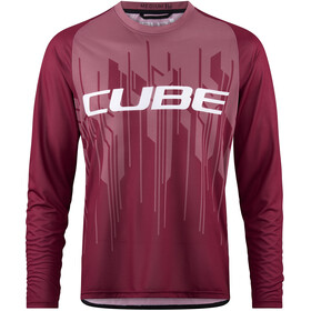 Cube Edge Fietsshirt lange mouwen Heren rood